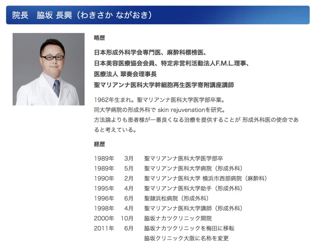 院長 脇坂 長興(わきさか ながおき)