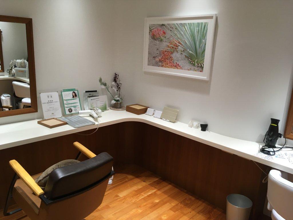 Dクリニック東京への通院患者限定のヘアサロン