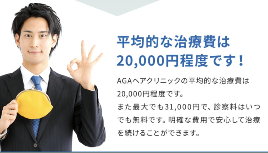 AGAヘアクリニックの費用・料金